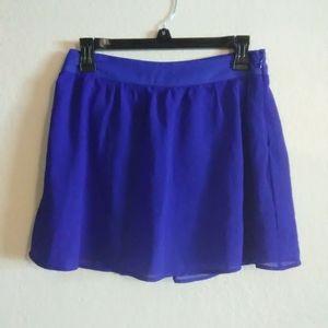 Dolls Kill Blue Tule Skater Skirt